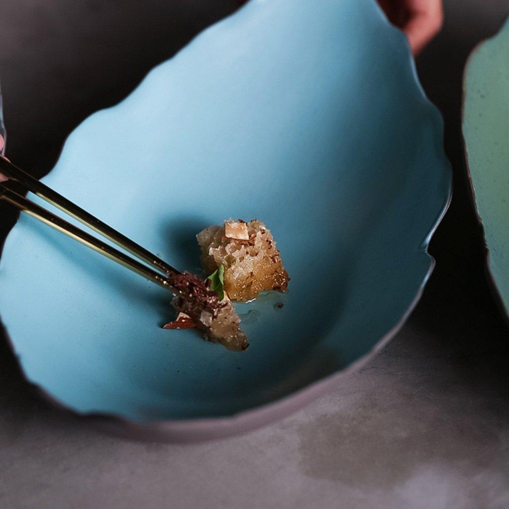 He Xiang Ya Shop Japanese style ceramic plate blue breakfast plate fruit salad plate long fish dish home soup plate by He Xiang Ya Shop (Image #5)