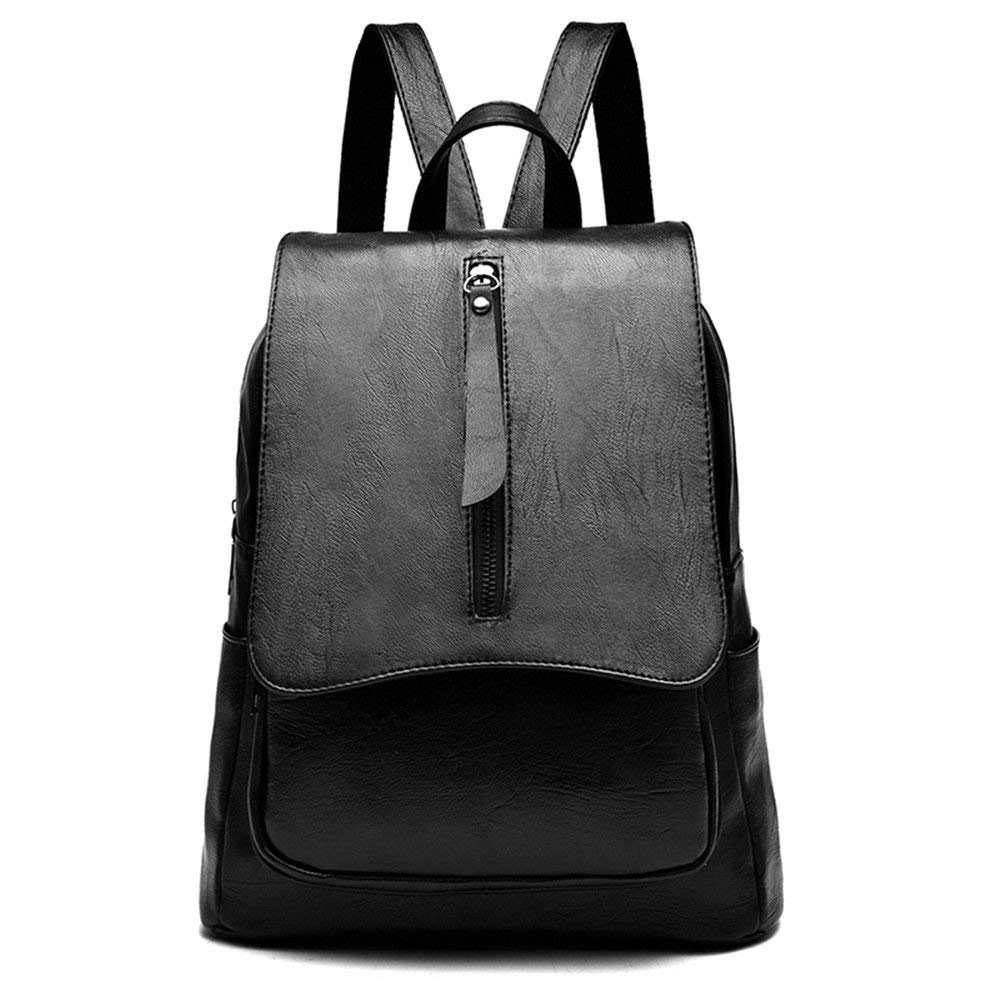 Black 32X29X13CM Willsego New ladies backpack fashion computer bag (color   Black, Size   32X29X13CM)
