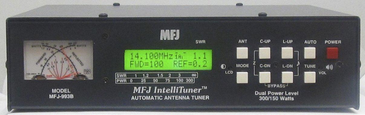 MFJ MFJ-993B MFJ993B MFJ-993 Original 1 8~30 MHz Automatic Antenna Tuner  300 Watts SSB / 150 Watts CW IntelliTuner w/SWR/Watt Meter