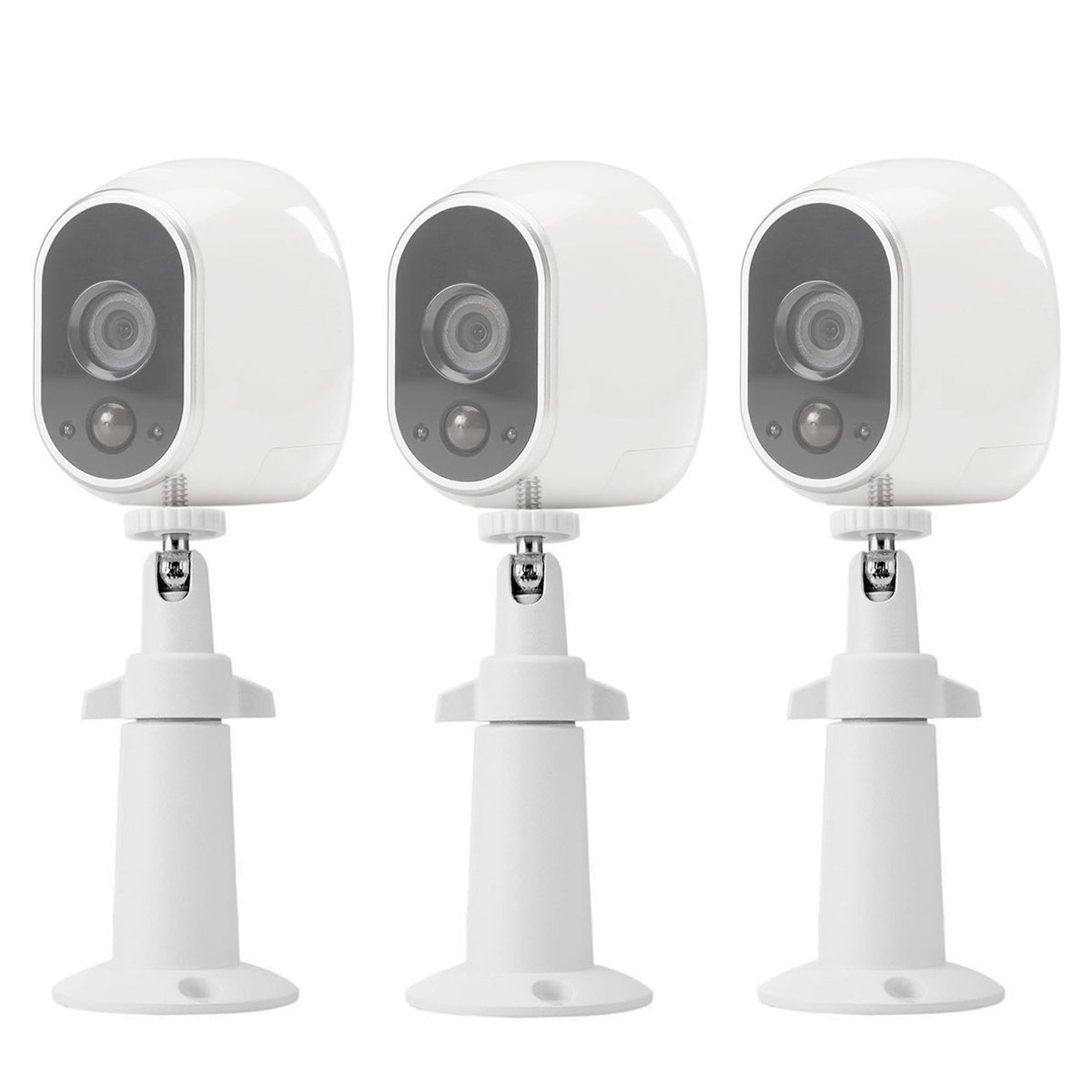 Wall Mount for Arlo Security,LANMU Indoor Outdoor Wall Mount for NETGEAR Arlo and Arlo Pro/Arlo Pro 2/Arlo Go Wire-Free Cameras-3 Pack (White)