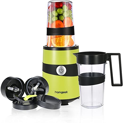 homgeek Smoothie batidora, mezclador de frutas Personal Blender ...