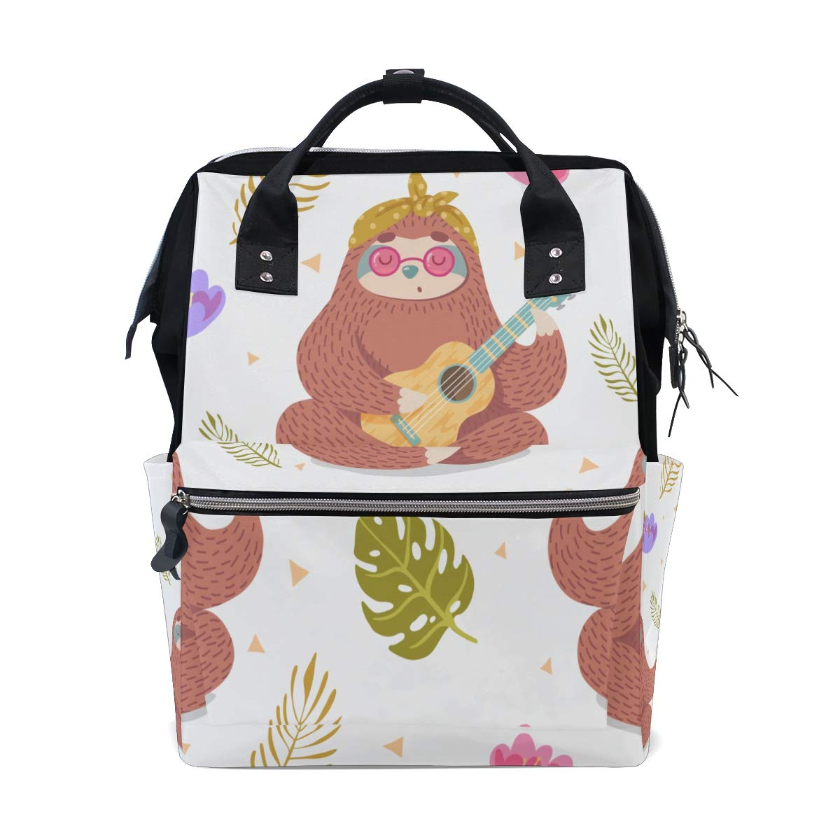 a2cf45f0dde Amazon.com : Lazy Sleeping Sloth Animal Large Capacity Diaper Bags ...