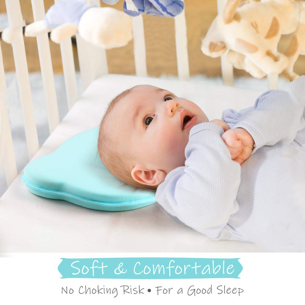 Almohada Ortop/édica para Prevenir la Plagiocefalia o la Cabeza Plana para Beb/é Recien Nacido 0~12 Meses Almohada para Beb/é Plagiocefalia con Extra Fundas Elegear Perfecto Cabeza