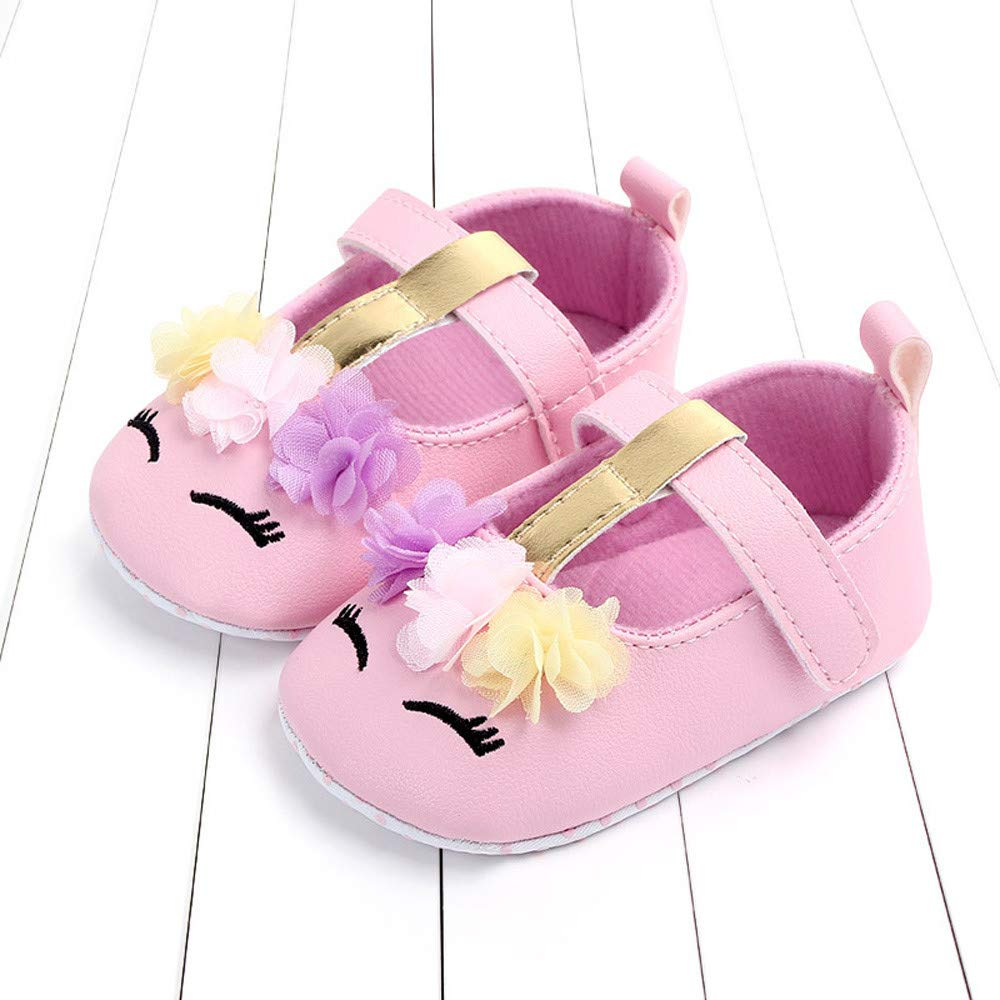 NUWFOR Cute Baby Girls Newborn Infant Cartoon Floral Casual First Walker Toddler Shoes(Pink,6-9Months) by NUWFOR (Image #2)