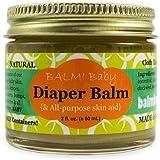 BALM! Baby Diaper Balm Natural Diaper Rash Balm & ALL Purpose Skin Aid {2oz./60mL GLASS Jar} Made in USA!