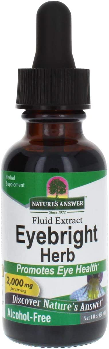 Nature's Answer Eyebright Herb | Supports Healthy Eyes & Vision | Non-GMO | Alcohol-Free, Gluten-Free, Kosher Certified, Vegan & No Preservatives 1oz