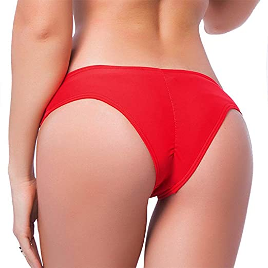 0ccf0ea16e Amazon.com: KIWI RATA 2018 New Womens Swimwear Sexy Sweet Heart Brazilian  Bikini Bottom Hipster Swimsuit Beachwear Swimwear Red: Clothing