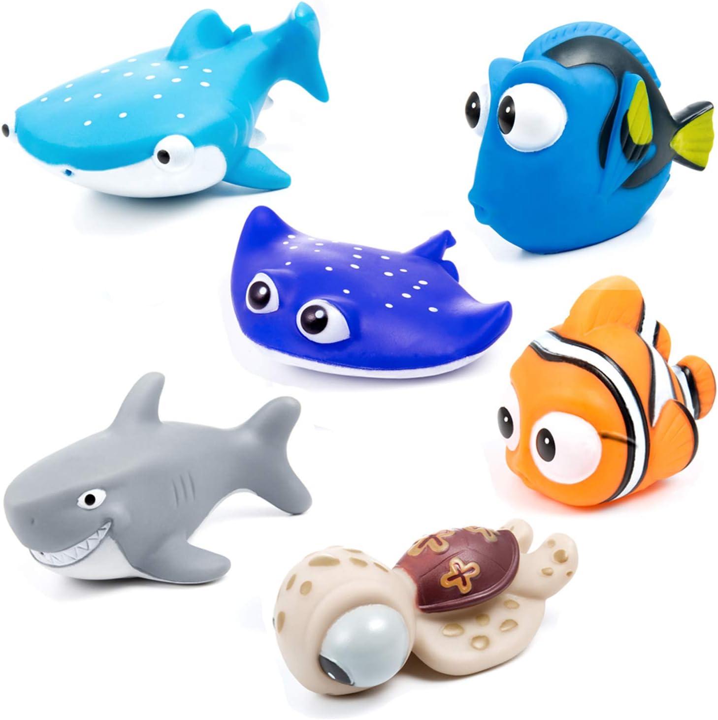 MOOKLIN Océano Squirting Juguete del Baño, 6 Piezas Juguetes de Natación del Flotante para Bebe Niños Agua Piscina Baño Playa