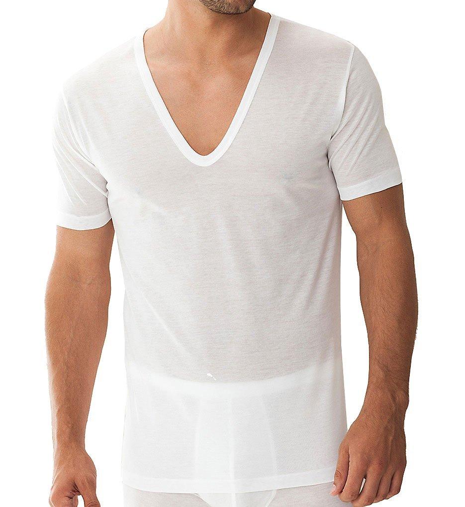 Zimmerli Royal Classic Deep V-Neck T-Shirt (2528124) M/White