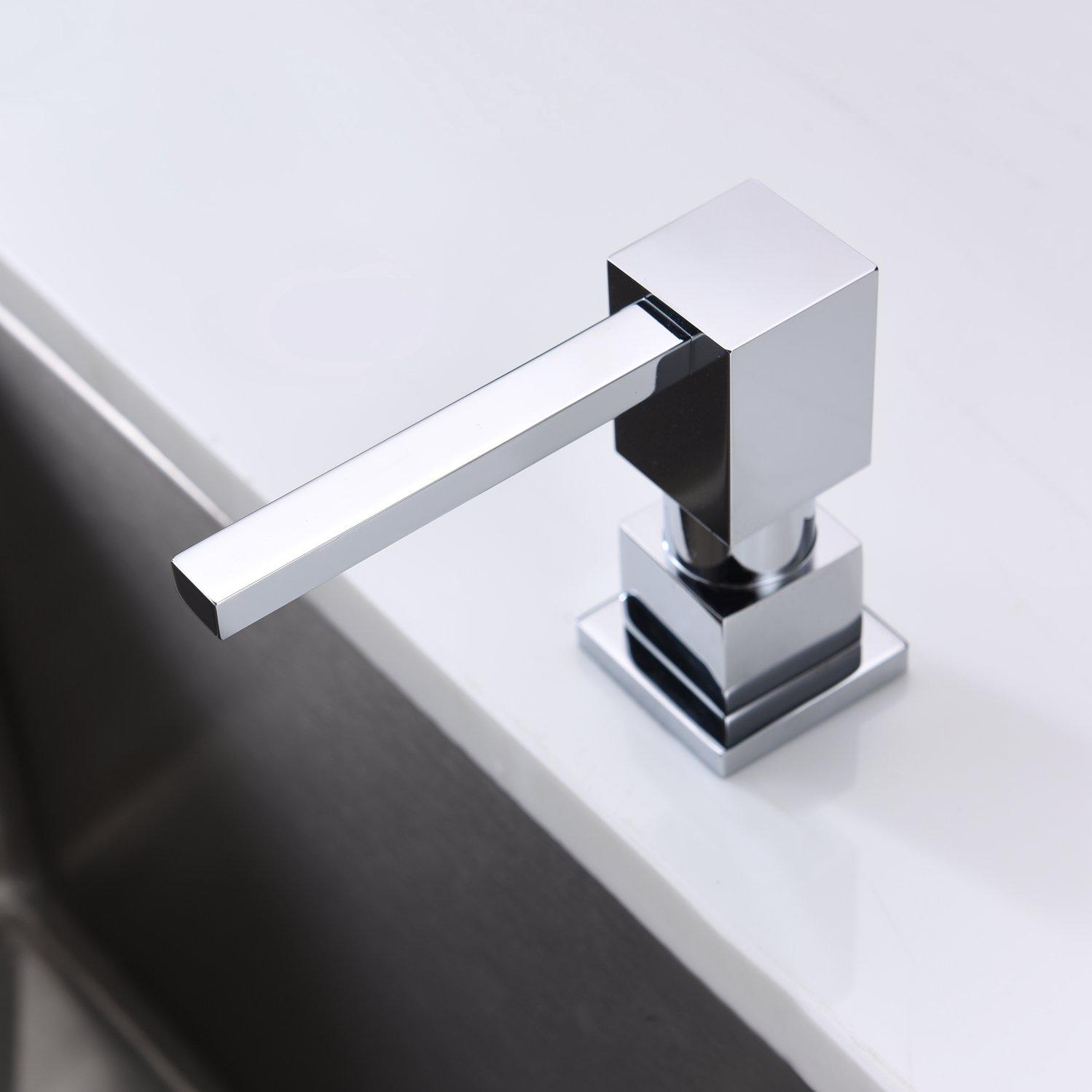 LAZADA Modern Chrome Built in Pump Kitchen Sink Dish Soap Dispenser, Dish Kitchen Soap Dispenser Pump by Fonveth (Image #2)