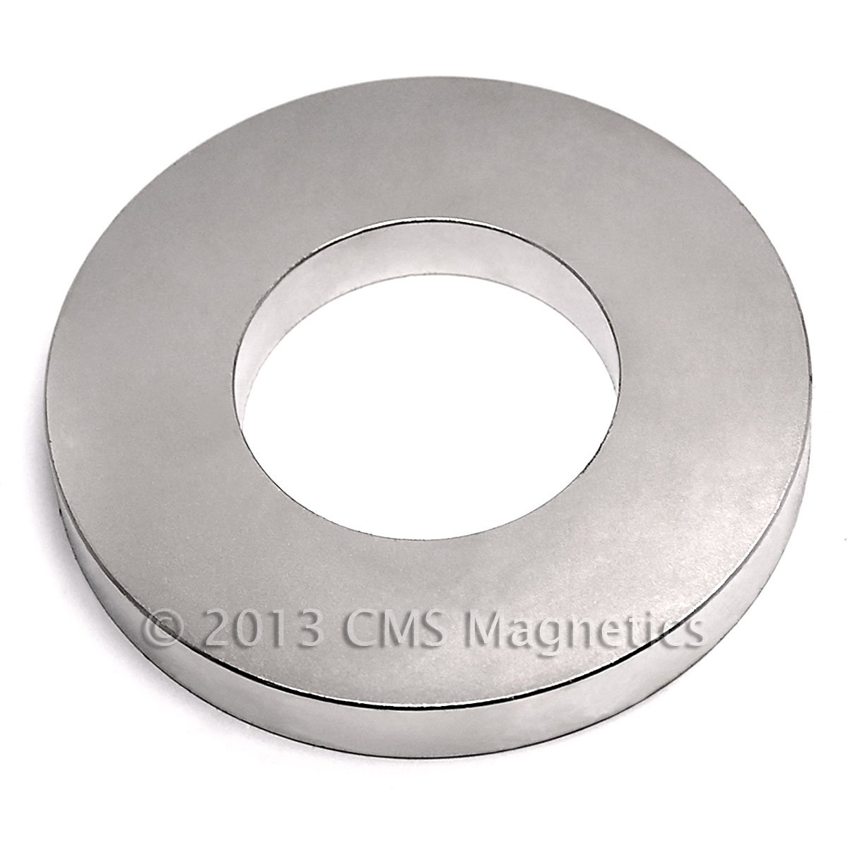 CMS Magnetics N40 4'' x 2'' x 1/2'' Ring, Package of 1 Rare Earth Neodymium Magnets