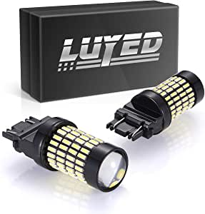 LUYED 2 X 1700 Lumens Extremely Bright 3157 4014 102-EX Chipsets 3056 3156 3057 3157 LED Bulbs with Projector for Backup Reverse Lights,Xenon White(Brightest LED in market)