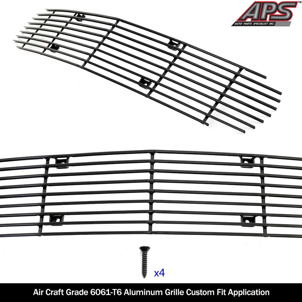 APS Compatible with 1998-2003 Chevy Camaro Black Main Upper Billet Grille Insert C86006H