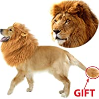 Dog Lion Mane Pet Dog Costume, Pet Wigs for Dogs Fancy Lion Hair, Pet Dog Lion Mane Wig for…