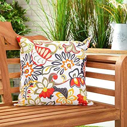 Colourful Multi Floral Design Water Resistant Outdoor Cushions For Cane Garden Furniture