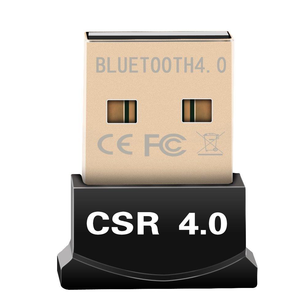 Vvciic Adaptador Inal¨ mbrico Bluetooth V4.0 Dongle RSE Modo Dual 20m 3 Mbps para Windows XP 7 8