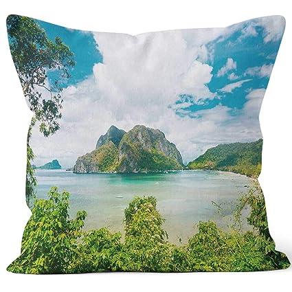Amazon.com: El Nido Sack Burlap Pillow,HD Printing Square ...