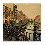 Amsterdam Kitchen N Bar CafePress - Amsterdam. The Singel Is One Of The N - Tile Coaster, Drink Coaster, Small Trivet