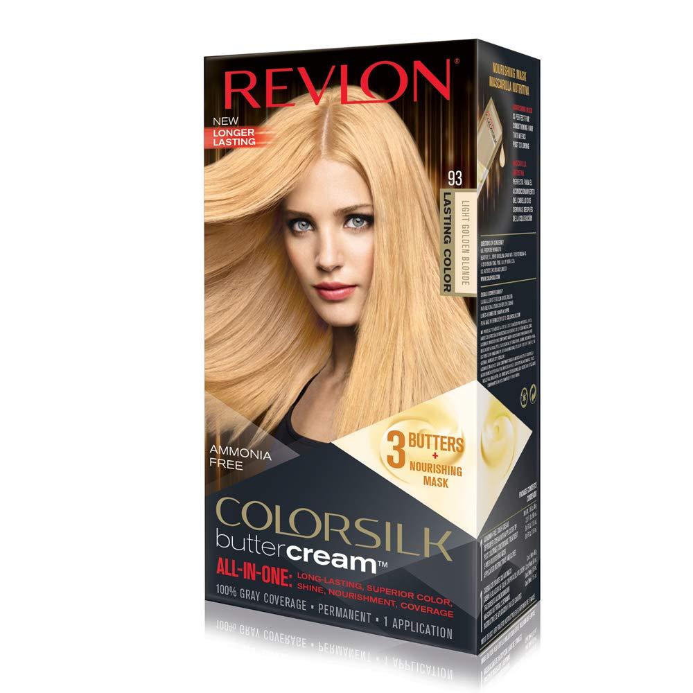 Revlon Colorsilk Buttercream Hair Dye, Light Golden Blonde, Pack of 1