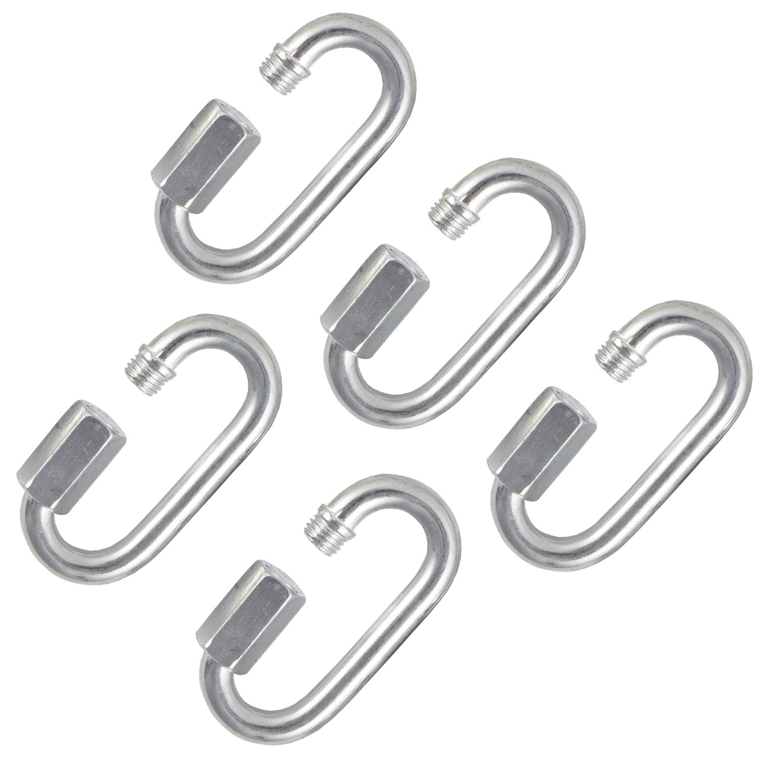 M6 Lock Quick Link Chain Shackle Connector 5PCS Screw Lock Carabiner