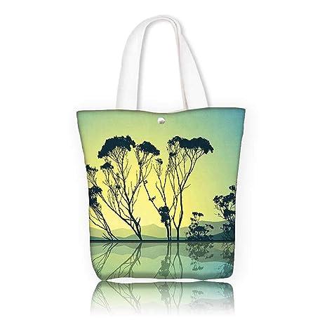 0afec01841ce Amazon.com: Canvas Shoulder Hand Bag -W17.7 x H14 x D7 INCH/work ...