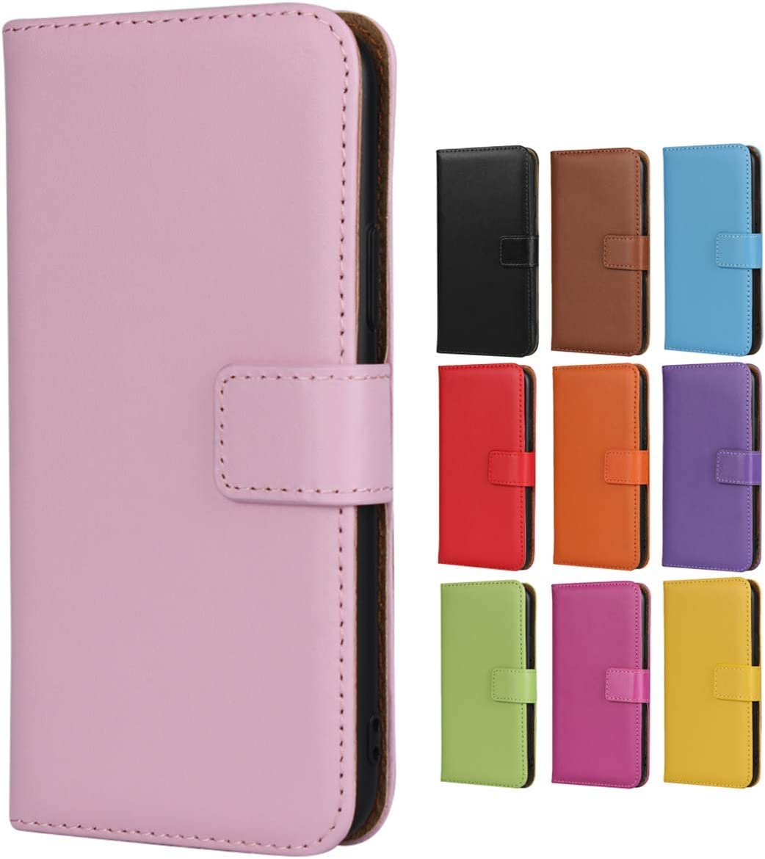 Jaorty Samsung Galaxy S7 Edge Case,Genuine Premium Leather Folio Wallet Case Flip Cover Book Design Kickstand Feature & Magnetic Closure & Card Slots/Cash Compartment Samsung S7 Edge,Pink