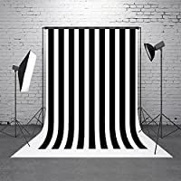 5x7ft(150x220cm)Children Backdrops for Photography Background Black with White Stripe Studio Photos