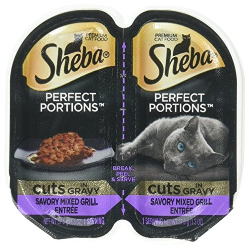 Sheba Perfect Portions Savory Mixed Grill Entree` Cuts in Gravy (5-2 pack trays)