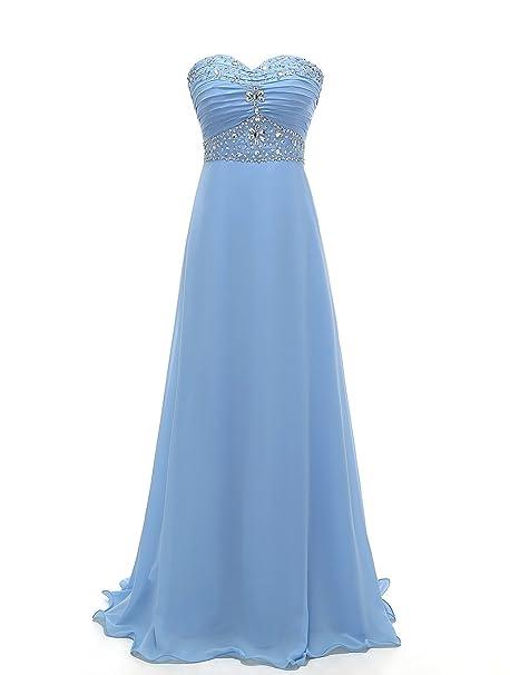 69a4dd99e9fb5 Grace Lee Womens Prom Dresses Long Beaded Sweetheart Chiffon Evening Gowns