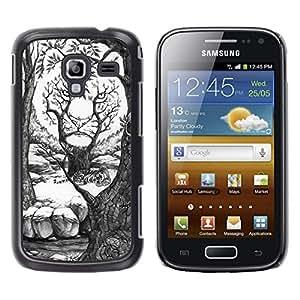 Be Good Phone Accessory // Dura Cáscara cubierta Protectora Caso Carcasa Funda de Protección para Samsung Galaxy Ace 2 I8160 Ace II X S7560M // painting pencil art drawing white fore