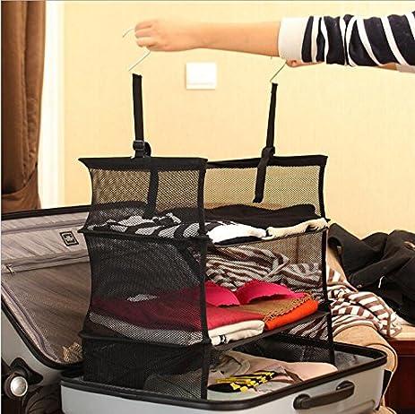 3 Tier Shelves/ Suitcase Organizer/closet Organizer Black