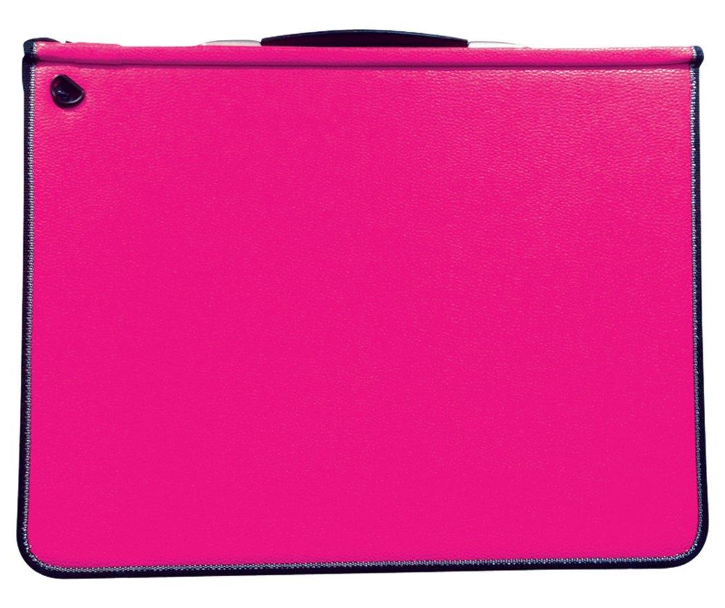 Artcare 15483240,Cartelletta, formato A3, 46x 5x 36cm, in materiale sintetico, con 5tasche, rosa fucsia Mapac
