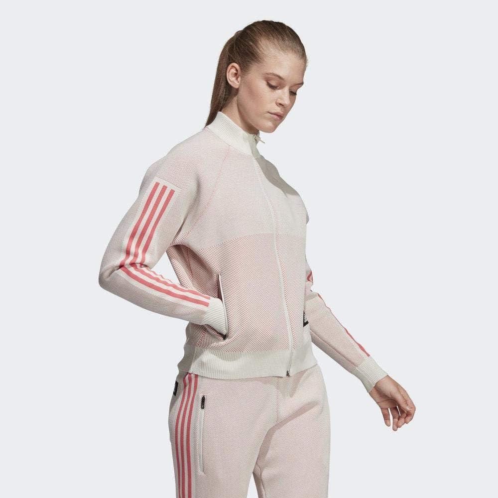 adidas W Id Knit Trtop T-Shirt Femme Rawwht/Pripnk