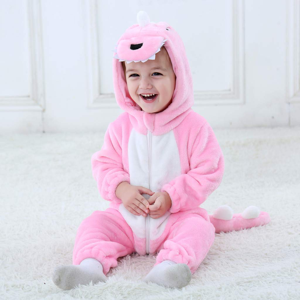 Combinaison Pyjama B/éb/é Hiver,Koly Ensemble Pyjamas Enfant Animaux D/éguisement Unisexe Pyjama Ensemble /à Capuche Mignonne Barboteuse Manches Longues Chaud