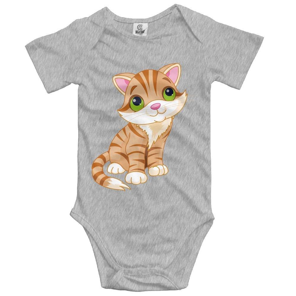 Jaylon Baby Climbing Clothes Romper Yellow Cat Infant Playsuit Bodysuit Creeper Onesies Ash