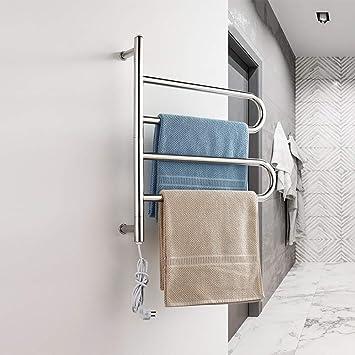 HL Toallero eléctrico calentado, baño termostático Calentador de toallero calentado radiador Cuarto de baño eléctrico