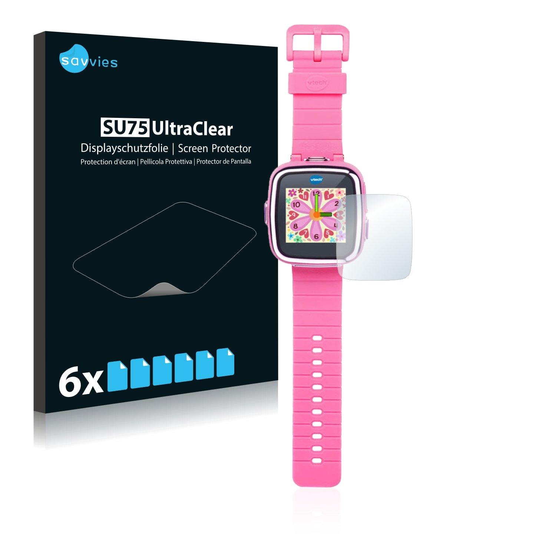 savvies Protector Pantalla Compatible con Vtech Kidizoom Smart Watch 2 (6 Unidades) Pelicula Ultra Transparente