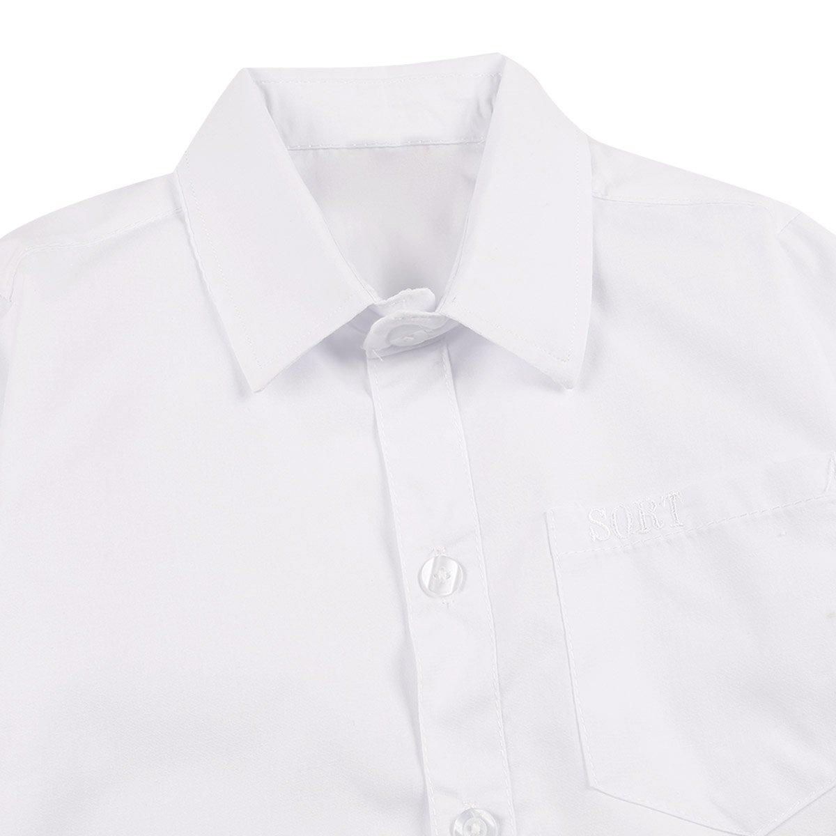 inlzdz Uniforme Escolar Niños Camisa Blanca Manga Larga Traje ...
