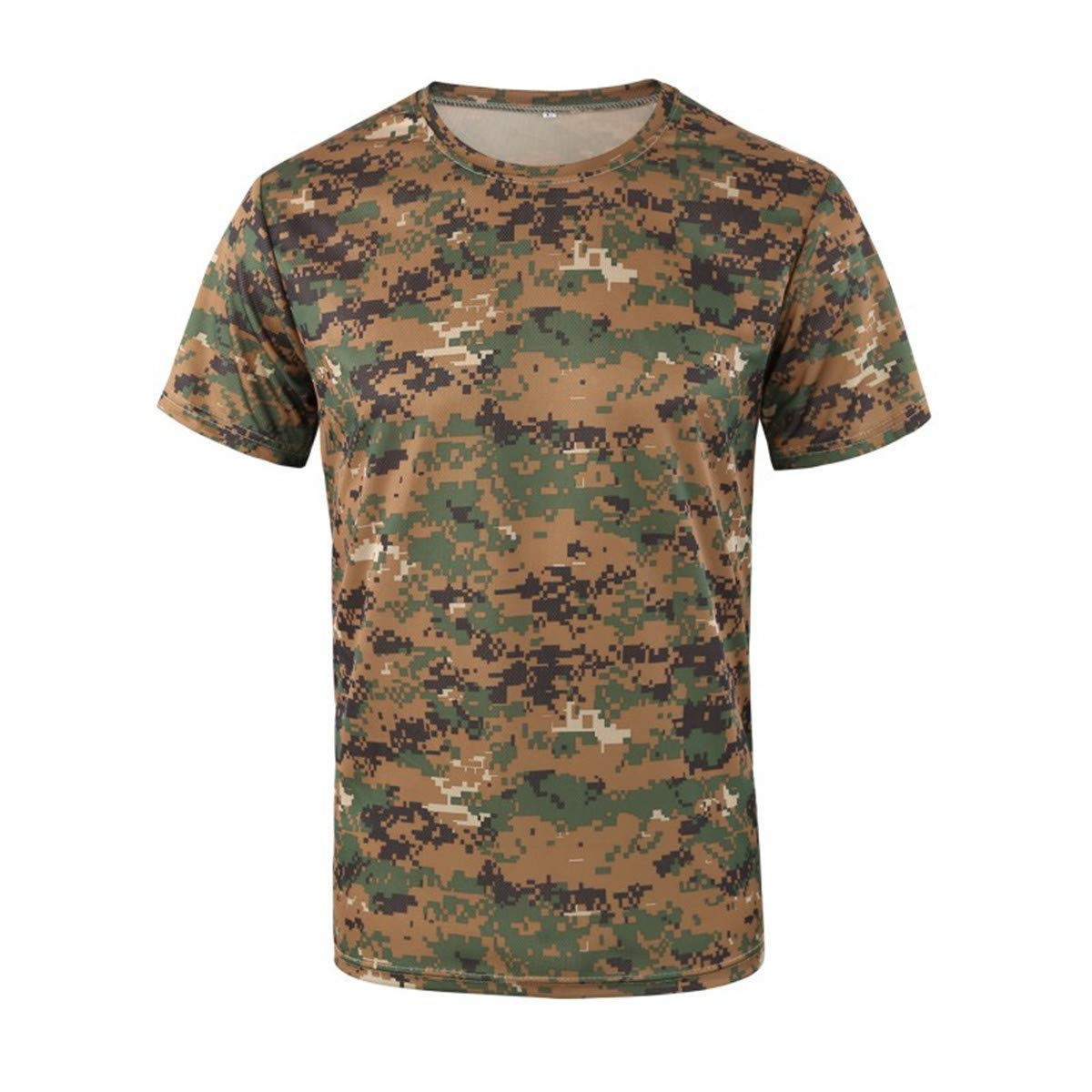 Formesy T-Shirt Tactique Outdoor pour Homme Respirant Arm/ée Militaire Combat,Casual Tee Shirt Camouflag Tee Tops