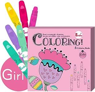 Libro para Colorear para Niños, Crayones Ilustrados para