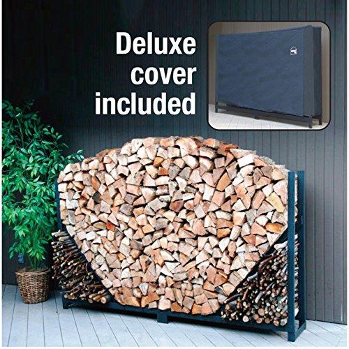 Shelterit Straight Firewood Log Rack With Kindling Wood
