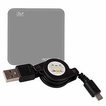 DURAGADGET Cable MicroUSB Retráctil para Proyector Apeman M4 Pasar ...