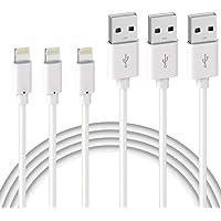 Quntis 3Pack 2m iPhone-laddningskabel, MFi-certifierad USB A till blixtkabel, iPhone-kabel kompatibel för iPhone SE 2020…