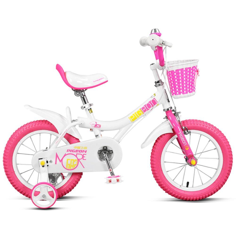 子供の自転車、女の子12/14/16/18インチの自転車、赤ちゃん2-6歳の子供のペダル ( 色 : Pink and white , サイズ さいず : 90センチメートル ) B078L255Y5Pink and white 90センチメートル