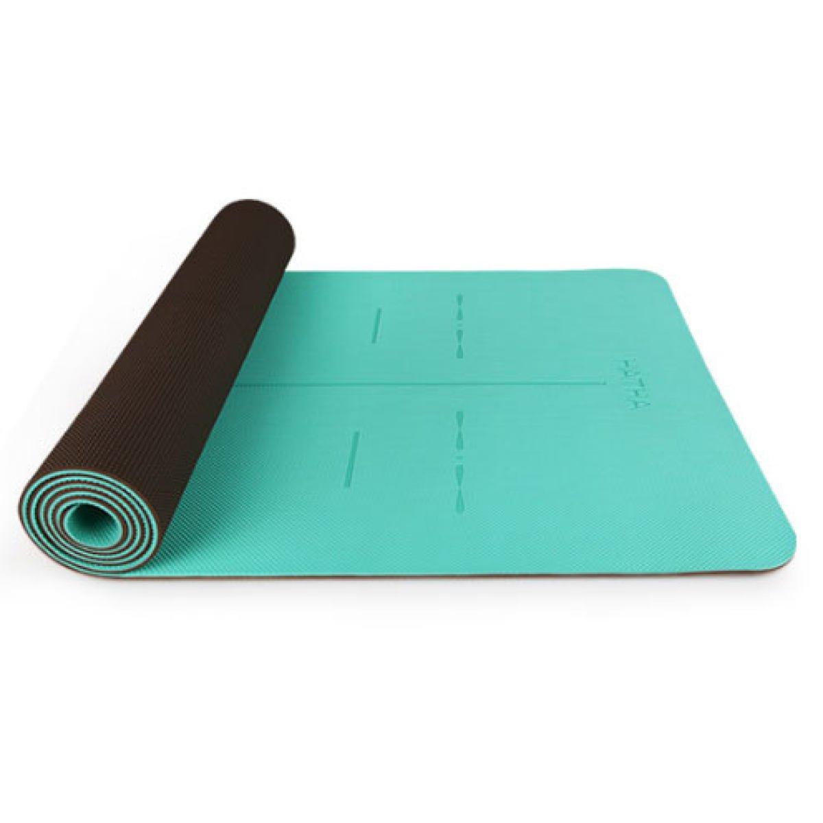 GEDTFC Professionelle Rutschfeste Yoga-Matte Natürlichen Umweltschutz Hohe Belastbarkeit TPE Yoga-Matte Fitness