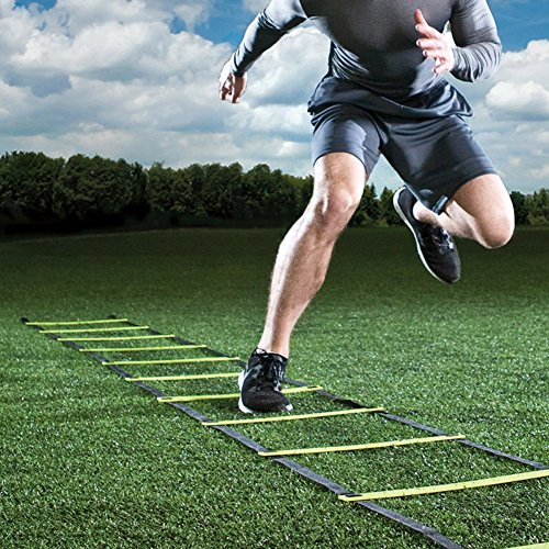 AIQI Speed & Agility Training Ladder for Improving Speed, Agility, Fitness, Leg Strength and More with Black Carrying Bag