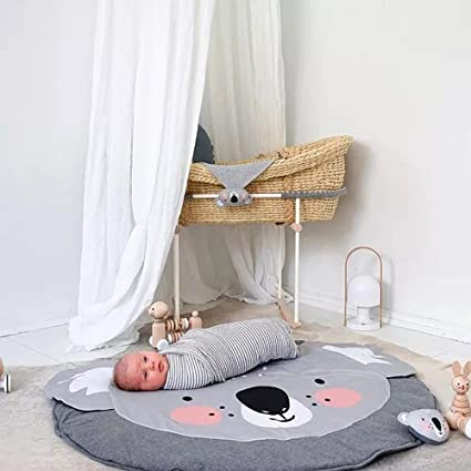 Amazon.com: hiltow Cute Koala bebé alfombra de juego ...