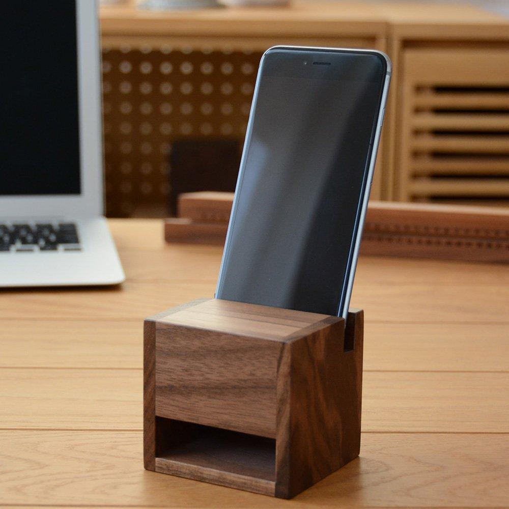 iPhone 木製スピーカースタンド