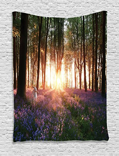 Tapestry Ambesonne Stunning Bluebell Woodland