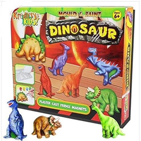 Gran regalo. dinosaurio molde Kit de pintura yeso \ Arts de papel para manualidades Ideas infantil niños ...